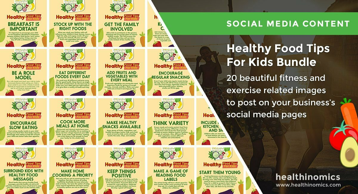 Healthy Food Tips For Kids Bundle | By Healthinomics