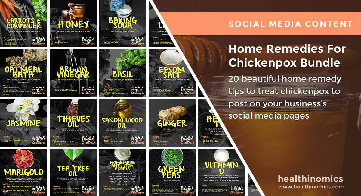 Home Remedies For Chickenpox Bundle | By Healthinomics
