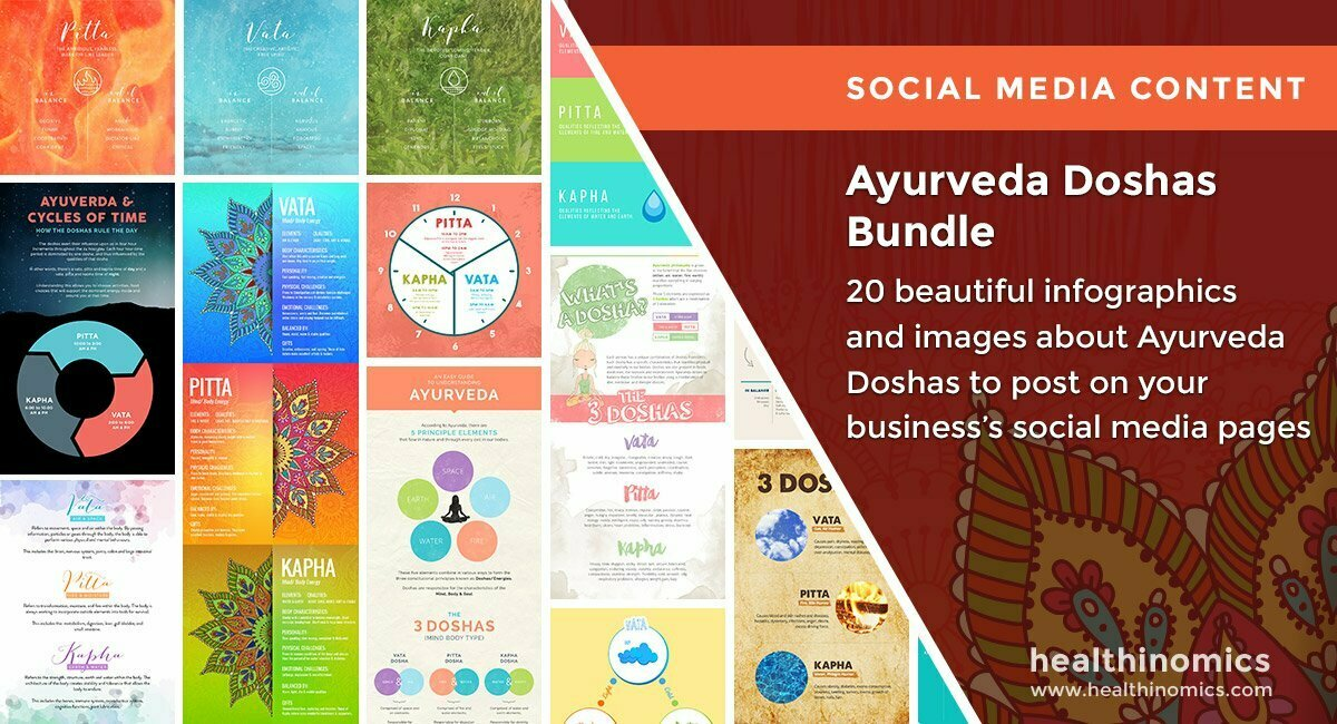 Social Media Images – Ayurveda Doshas Bundle | Healthinomics.com