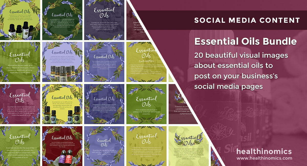 Social Media Images – Essential Oils Bundle | Healthinomics.com