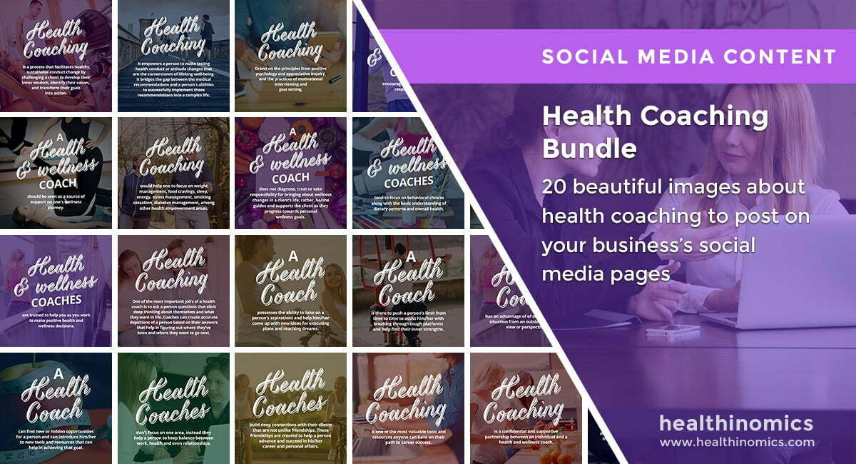 Social Media Images – Health Coaching Bundle | Healthinomics.com