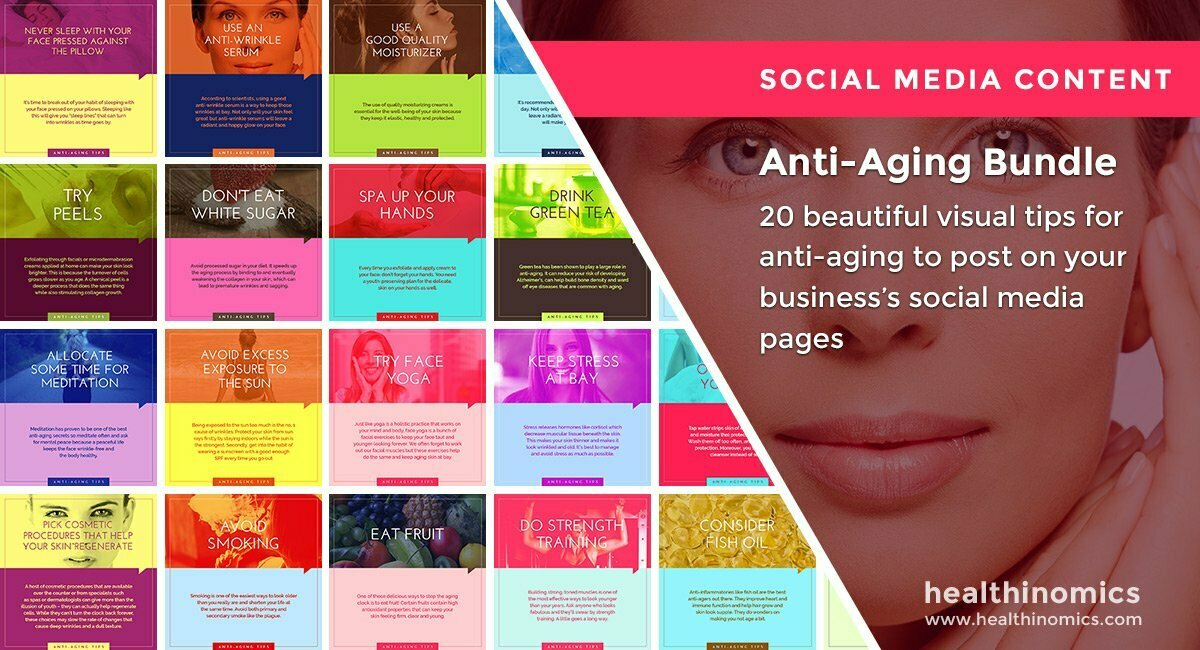 Social Media Images – Anti-Aging Tips Bundle | Healthinomics.com