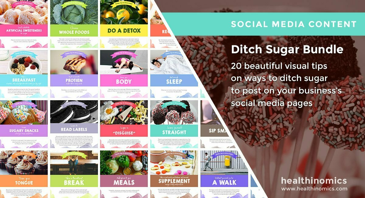 Social Media Images – Ditch Sugar Bundle | Healthinomics.com