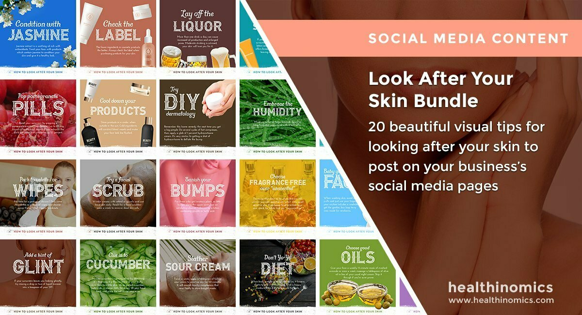 Social Media Images – Look After Your Skin Bundle | Healthinomics.com