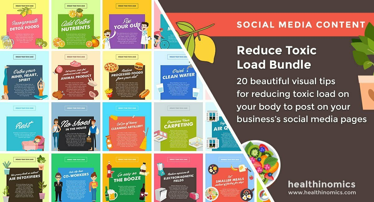 Social Media Images – Reduce Toxic Load Bundle | Healthinomics.com