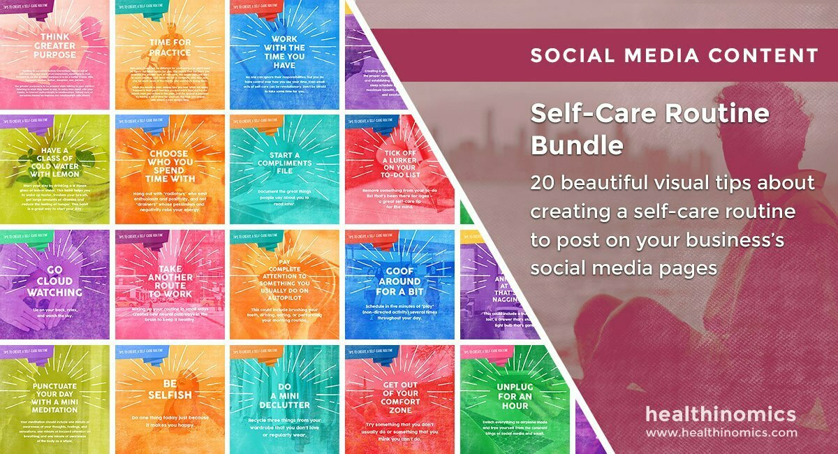Social Media Images – Self-Care Routine Bundle | Healthinomics.com