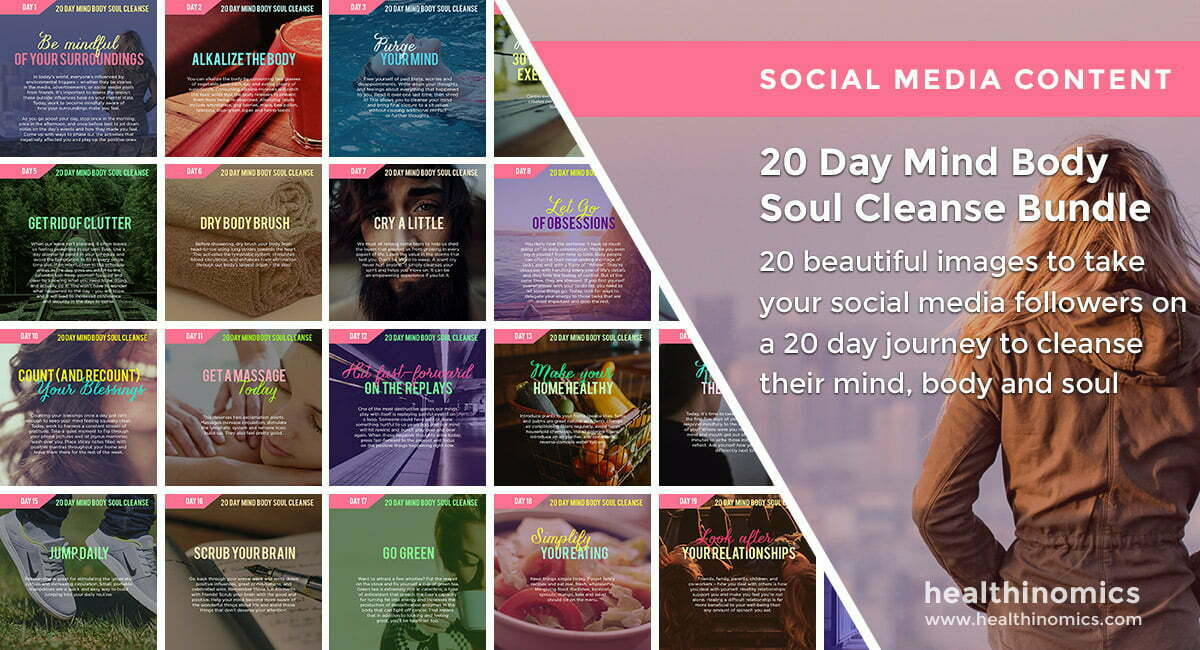 Social Media Images – 20 Day Mind Body Soul Cleanse Bundle | Healthinomics.com