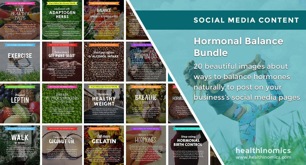 Social Media Images – Hormonal Balance Bundle | Healthinomics.com